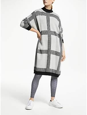 PATTERNITY + Micro Macro Knitted Dress, Grey