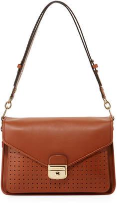 Longchamp Mademoiselle Perforated Leather Hobo Shoulder Bag