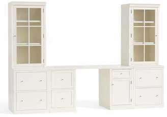 Pottery Barn Logan Small Office Suite with File Cabinets & Glass Towers