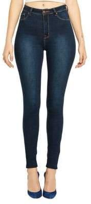 LA LA Anthony High-Rise Classic Jeans
