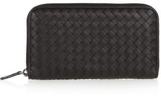 Bottega Veneta - Intrecciato Leather Continental Wallet - Black $760 thestylecure.com