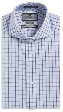 Black & Brown Black Brown Checkered Slim-Fit Non-Iron Dress Shirt