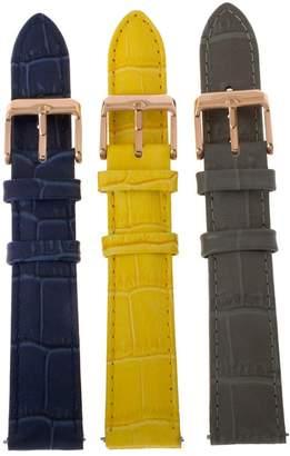 Croco Bronze Embossed Leather Watch Straps byBronzo Italia