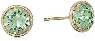 Swarovski 10K Yellow Gold Crystal Earrings