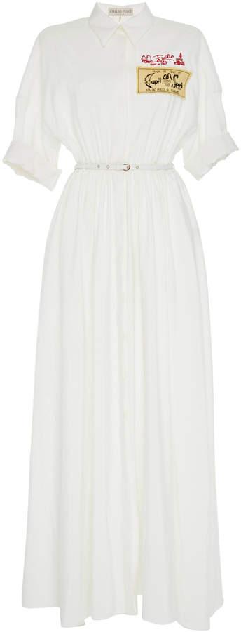 Emilio Pucci Maxi Silk Shirt Dress