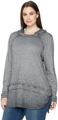 Jag Jeans Women's Plus-Size Magna Hoodie In Burnout Jersey