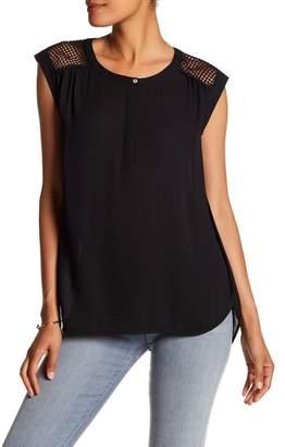 DR2 by Daniel Rainn Button Front Lace Shoulder $68 thestylecure.com