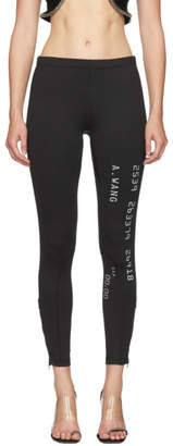 Alexander Wang Black Scuba Reflective Leggings
