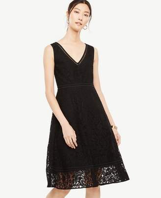 Ann Taylor Lace Midi Flare Dress