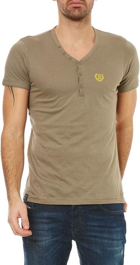 Kurzärmeliges T-Shirt - khaki