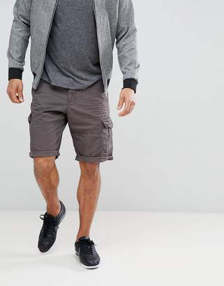 Esprit Relaxed Fit Cargo Shorts In Gray