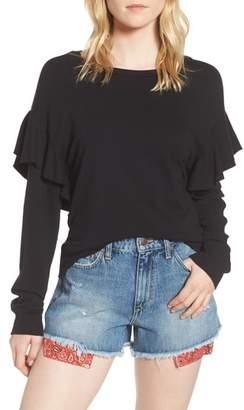 Joe's Jeans Faye Ruffle Sweatshirt