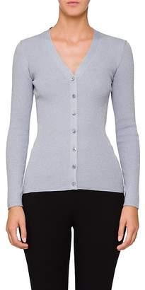 Prada Women's Ribbed Wool-Blend Cardigan