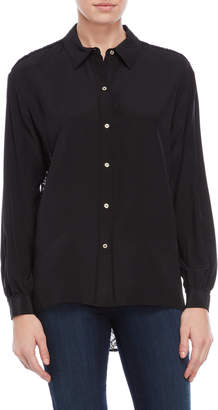 Juicy Couture Lace Back Silk Shirt