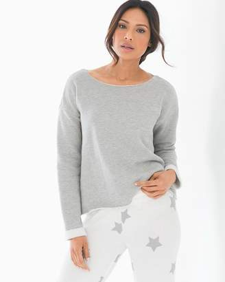 PJ Salvage Star Light Long Sleeve Pajama Top
