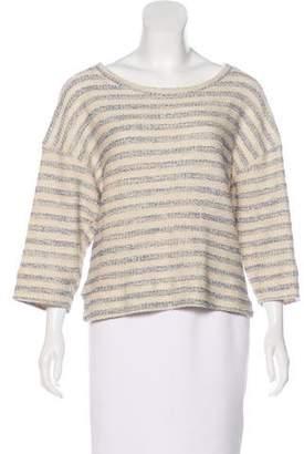 L'Agence Metallic Striped Sweater