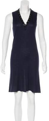 Magaschoni Embellished Silk-Cashmere Blend Dress