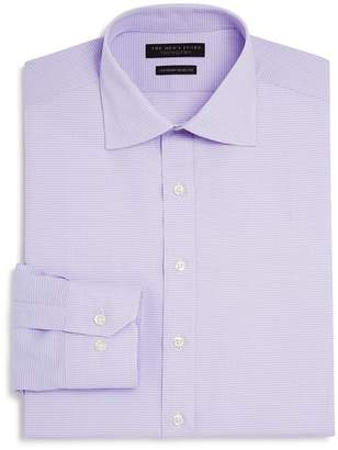 Bloomingdale's The Men's Store at Textured Check Regular Fit Basic Dress Shirt - 100% Exclusive