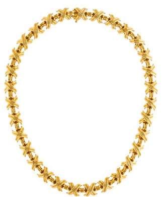 Tiffany & Co. 18K Signature X Station Necklace