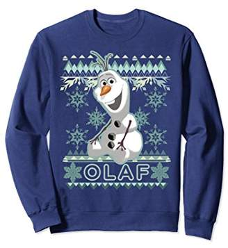 Disney Frozen Olaf Ugly Christmas Sweater Graphic Sweatshirt