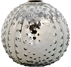 Mercury Glass Sea Urchin Vase
