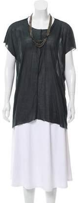 Yigal Azrouel Embellished Short Sleeve Top