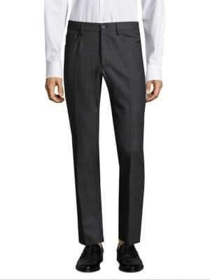 Incotex Moss Panama Wool Trousers