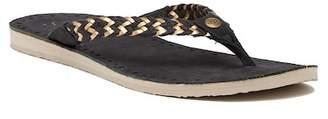 UGG Navie II Braided Jute Leather Sandal