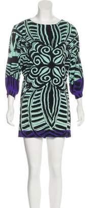 Nicole Miller Silk Mini Dress Black Silk Mini Dress