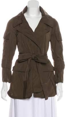 Kaufman Franco Kaufmanfranco Leather-Trimmed Notch-Lapel Jacket Olive Kaufmanfranco Leather-Trimmed Notch-Lapel Jacket