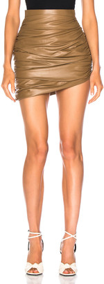 The Natural Zeynep Arcay for FWRD Draped Mini Leather Skirt