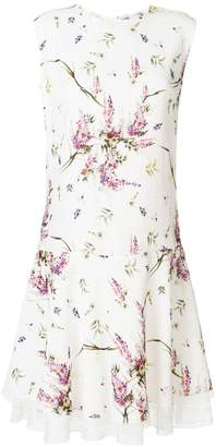 Ermanno Scervino floral print lace hem dress