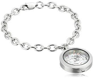 Swarovski Charmed Lockets Family Forever Crystal Link Charm Bracelet