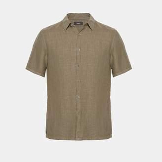 Theory Linen Standard-Fit Short-Sleeve Shirt