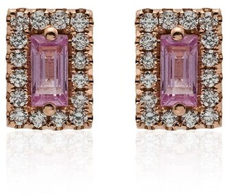 Suzanne Kalan rose gold and pink sapphire stud earrings