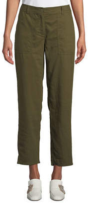 Eileen Fisher Soft Organic Twill Cropped Taper Pants, Plus Size