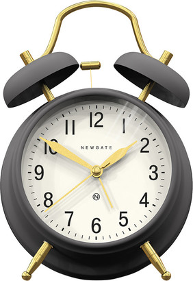 Newgate Clocks - Brick Lane Alarm Clock - Moonstone/Brass