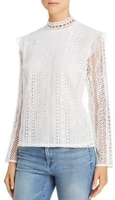 Aqua Ruffled Lace Top - 100% Exclusive