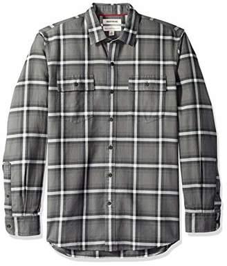 Goodthreads Men's Standard-Fit Long-Sleeve Plaid Twill Shirt