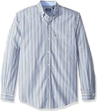 Izod Men's Striped Essential Woven Shirt