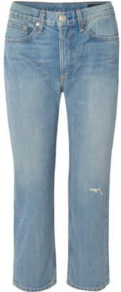 Rag & Bone Distressed Boyfriend Jeans - Mid denim