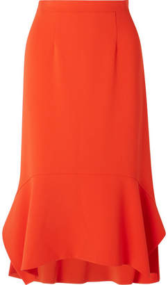 Altuzarra Arthur Peplum Cady Midi Skirt - Orange