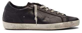 Golden Goose Super Star Low Top Leather Trainers - Mens - Black