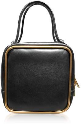 Alexander Wang Black Leather Halo Top Handle Satchel Bag