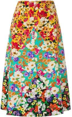 Gucci long floral print skirt