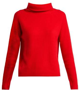 Allude Roll Neck Cashmere Sweater - Womens - Red