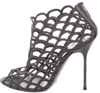 Sergio Rossi Leather Caged Sandals