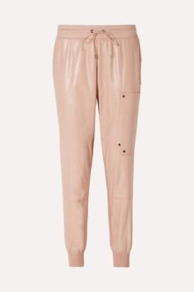 Tom Ford Paneled Leather Track Pants - Blush