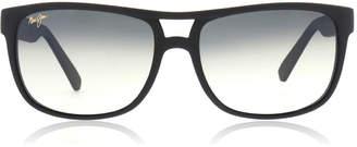 Maui Jim Waterways Sunglasses Black Matte Rubber GS267 Polariserade 58mm
