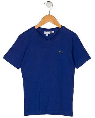 Lacoste Boys' V-Neck Short Sleeve Shirt